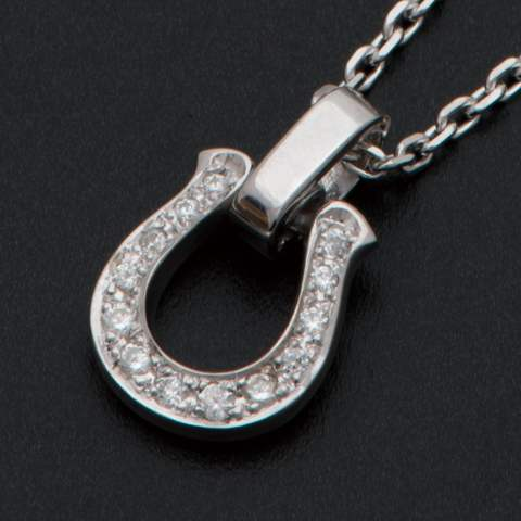 Horseshoe Amulet with/Clear CZ ホースシューアミュレット