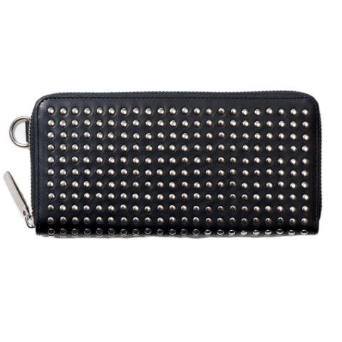 Leather long wallet fold 'all-studs' 2 レザーロングウォレット