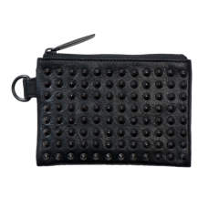 Leather wide coin case 'all-studs' pointu レザーワイドコインケース