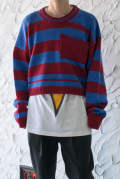 Disturebed striped sweater with pocket