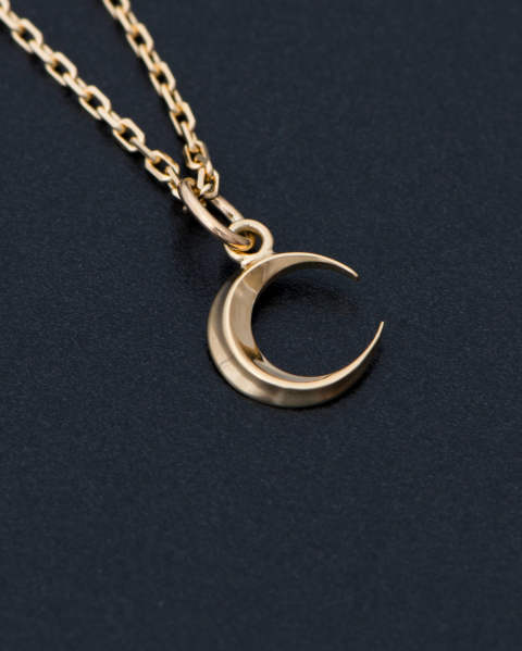 Small Moon Charm - K18Yellow Gold スモールムーンチャーム - K18イエローゴールド 10-P1715Y8 Sympathy of Soul