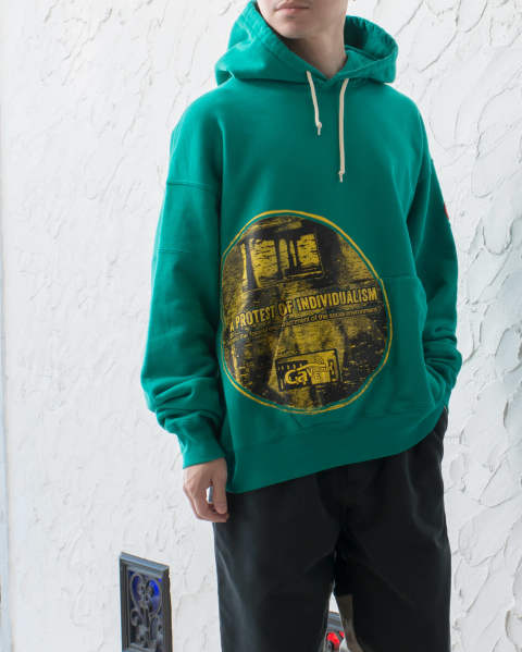 【LAST ONE SIZE L】INDIVISUALISM Heavy hoody CES13CS10 C.E