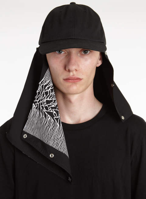 Baseball cap with attachment 14-181-928 RAF SIMONS