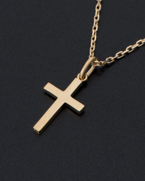 Simple Cross Pendant Small  K18 Yellow Gold シンプルクロスペンダント スモール P1808Y8 Sympathy of Soul