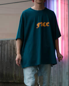 【LAST ONE】face big tee green