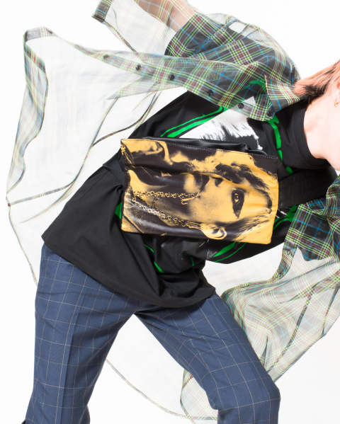 EASTPAK × RAF SIMONS RS Poster Waistbag 02Z POLY SATIN