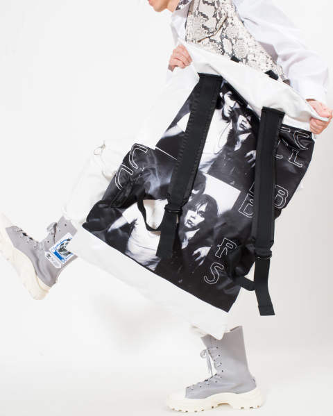 EASTPAK × RAF SIMONS RS Poster Backpack silver 04Z SI SAT TOYAH S