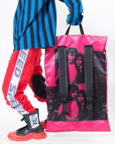 EASTPAK × RAF SIMONS RS Poster Backpack 98Y BL SAT COUPLE F