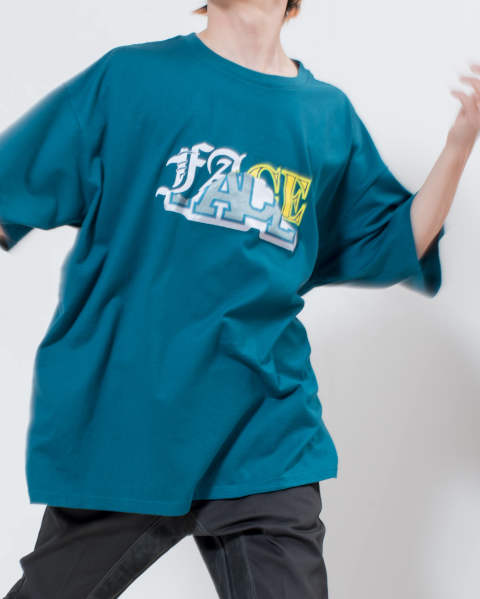 【LAST ONE】mix face big tee green