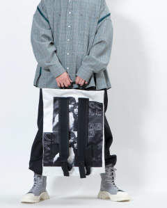 EASTPAK × RAF SIMONS RS Poster Padded 06Z BL COT COUPLE W