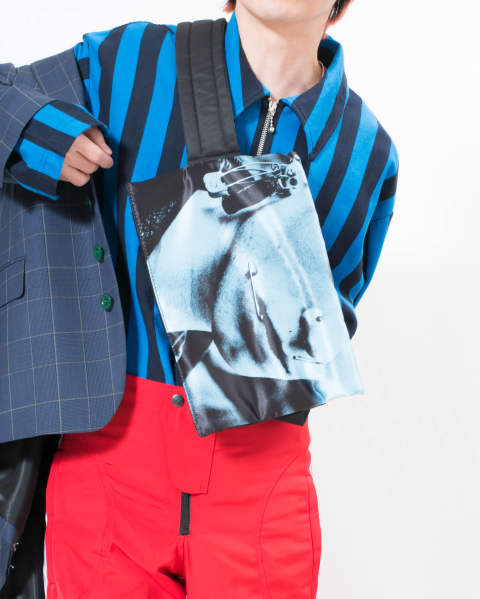 EASTPAK × RAF SIMONS RS Poster Waistbag 09Z BONDED COTTON