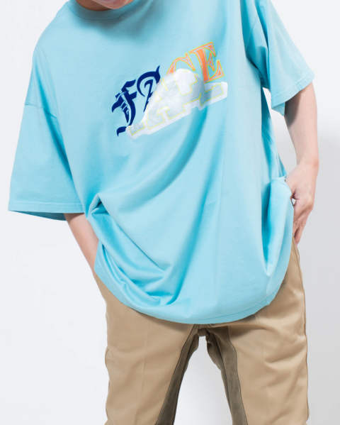 【LAST ONE】mix face big tee blue