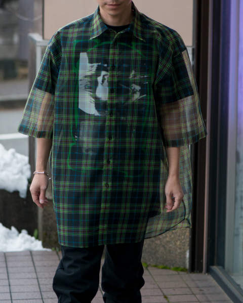 【LAST ONE(46)】Short sleeve shirt with T-shirt