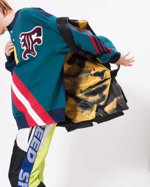 【LAST ONE】EASTPAK × RAF SIMONS RS Poster Backpack 99Y BL SAT BOY Y