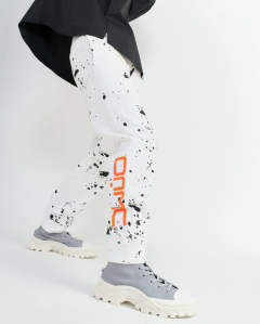 Splatter sweat pant white