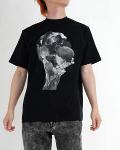 """Collage"" printed tee black"