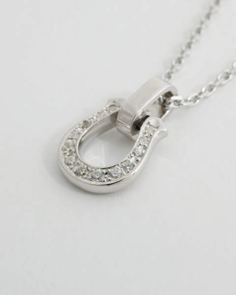 Horseshoe Amulet with/Clear CZ ホースシューアミュレット 10-P1109C Sympathy of Soul