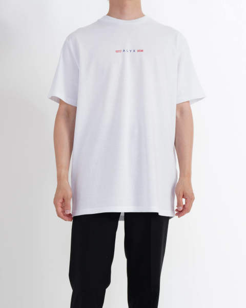Collage ss tee white