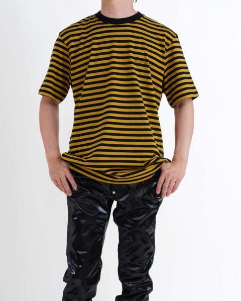 Striped Cotton SS Tee Yellow
