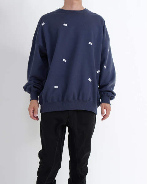 【LAST ONE(XL)】Pricetag Crew Sweat navy