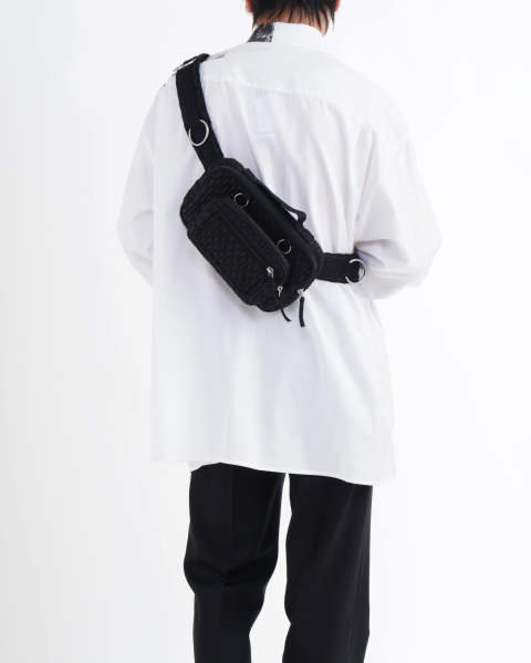 EASTPAK × RAF SIMONS RS WAISTBAG LOOP BLACKMATLAS