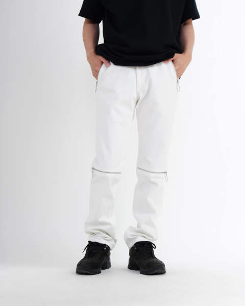 Zipped jeans white