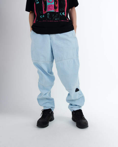 Panel Denim Beach Pants Bleach