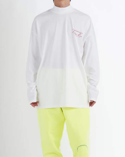 【LAST ONE(XL)】Jersey Funnel Neck white