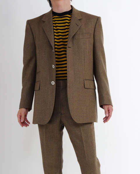 Wool Herringbone Single Jacket