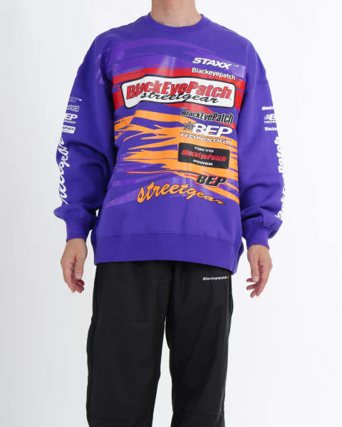 Racing Crew Sweat purple