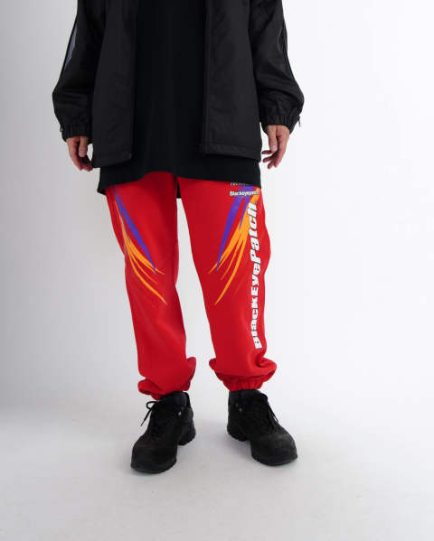 Racing Sweat Pants red