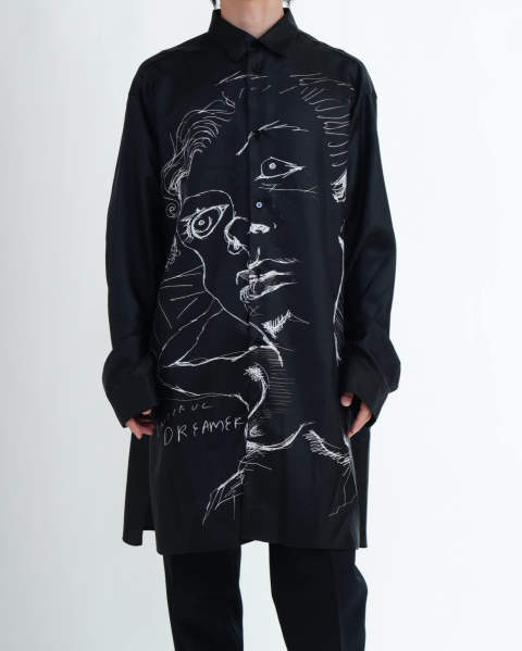 Frances Shirt, Printed black