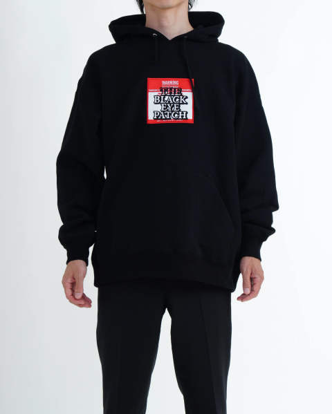 【LAST ONE(L)】Label Hoodie Black