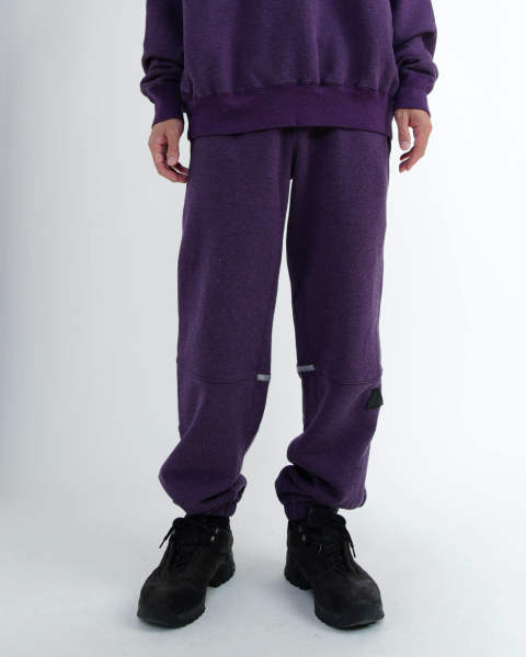 Purple Mixed Jog Pants
