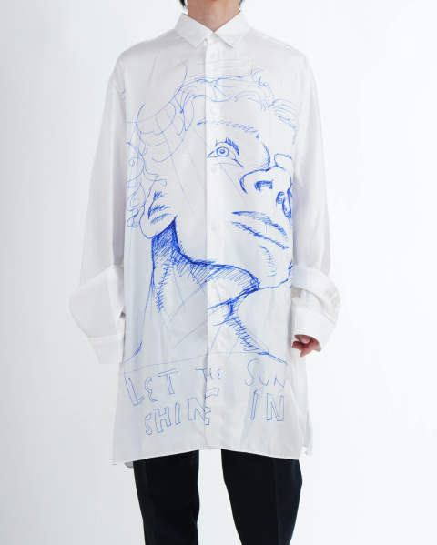 〈LAST ONE(M)〉Frances Shirt, Printed white
