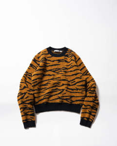 Tiger Jacquard Knit Sweater