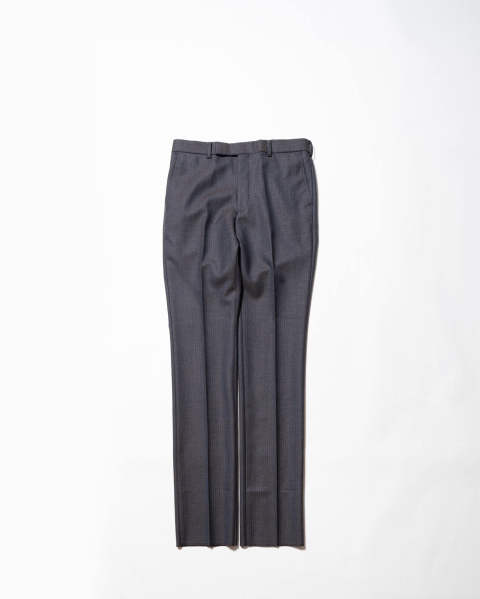Striped Wool Straight Trousers
