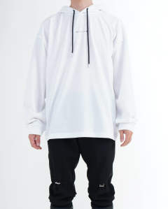 Hooded tee visual white