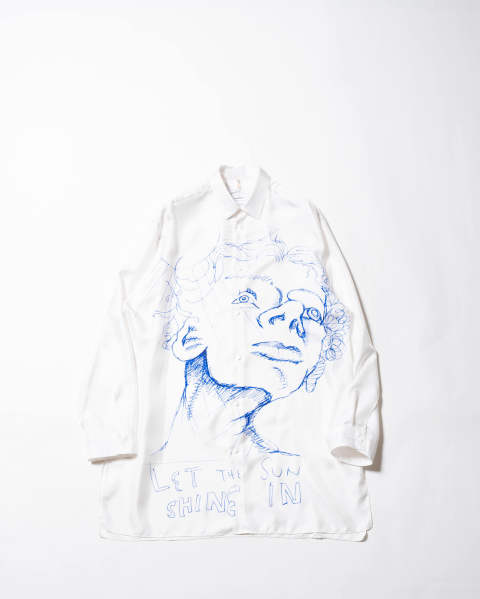 Frances Shirt, Printed white