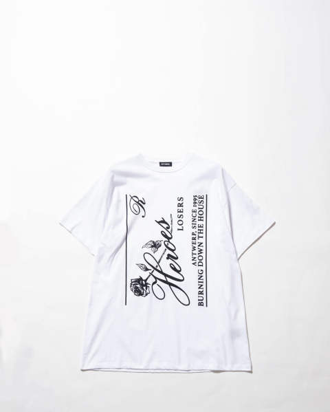 Big fit T-shirt heroes white