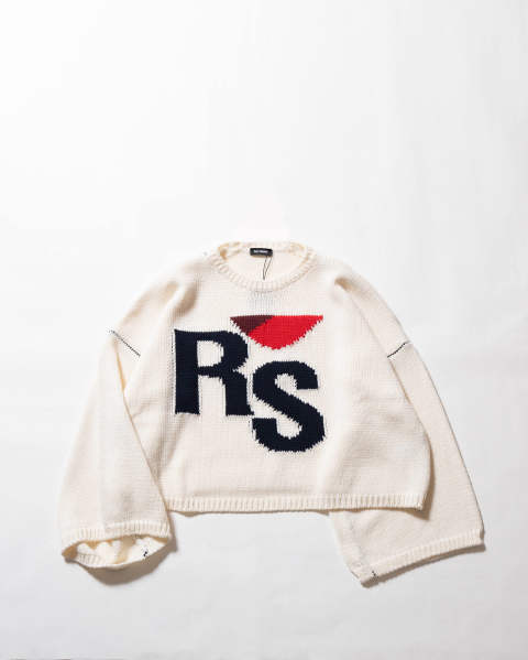 【LAST ONE(M)】Cropped oversized RS sweater
