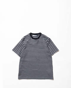 Striped Cotton SS Tee Grey