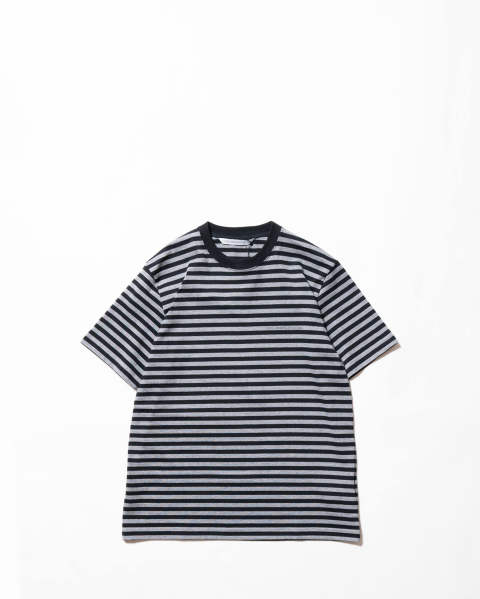【LAST ONE(M)】Striped Cotton SS Tee Grey