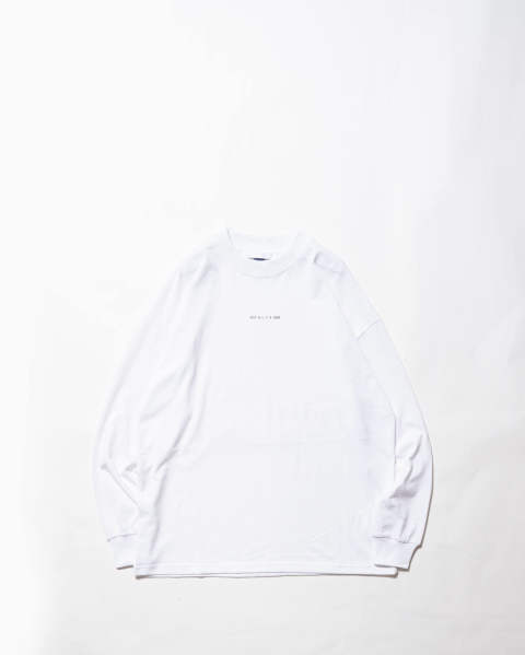 【LAST ONE(XL)】L/S tee visual white