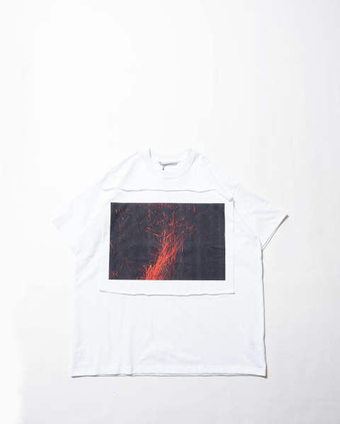 Photo Printed Oversized T-shirt 014 white