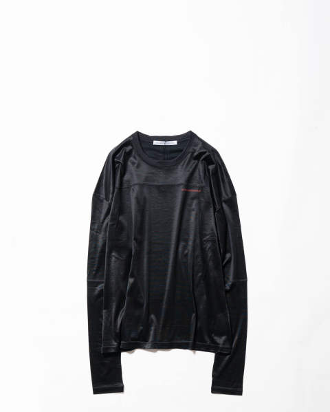 Shiny Jersey LS Football Top black