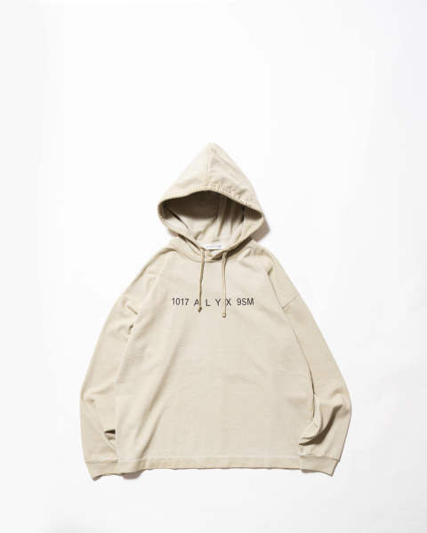 Hooded tee w/logo print