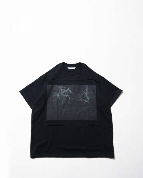 Photo Printed Oversized T-shirt 016 black
