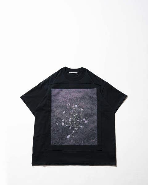 Photo Printed Oversized T-shirt 015 black