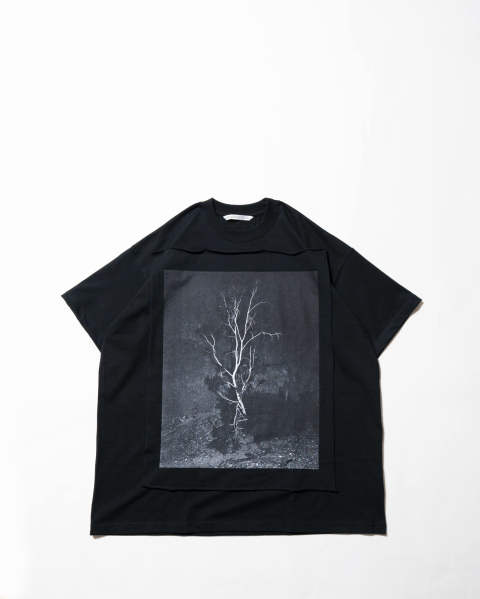 Photo Printed Oversized T-shirt 013 black